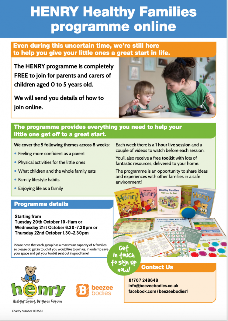 HENRY Healthy Families Programme ONLINE