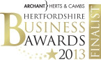 Herts Business Awards 2013 Finalist